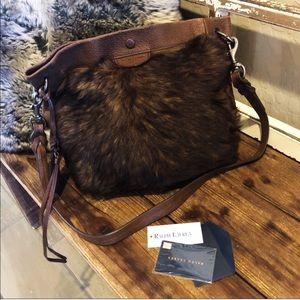 Ralph Lauren Vintage Fur & Leather Shoulder Bag